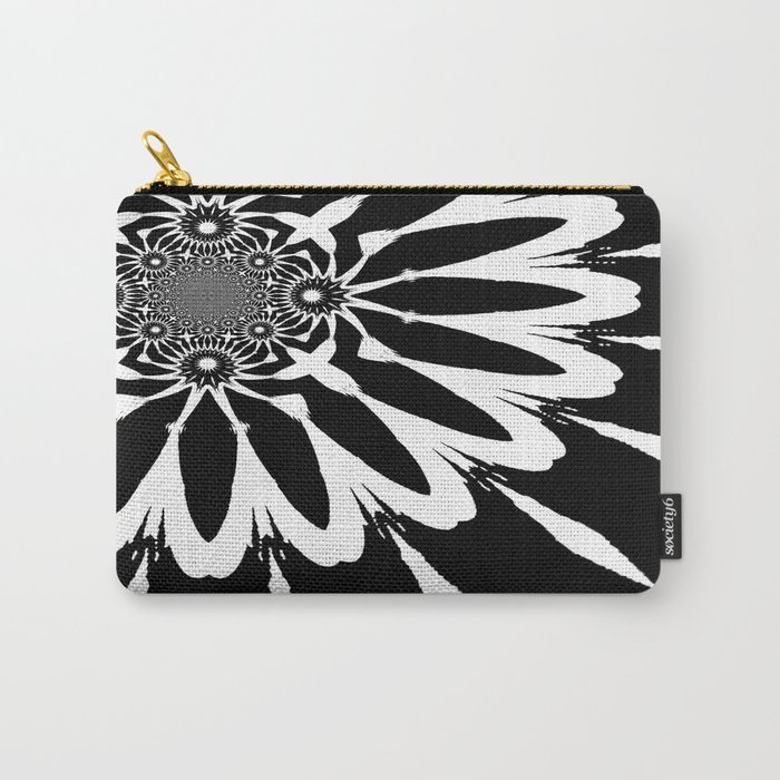 The Modern Flower Black & White Carry-All Pouch