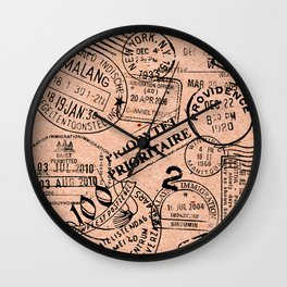 Passport Kraft Wall Clock