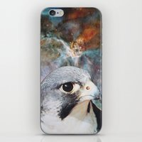 falcon iPhone & iPod Skins featuring Falcon by John Turck