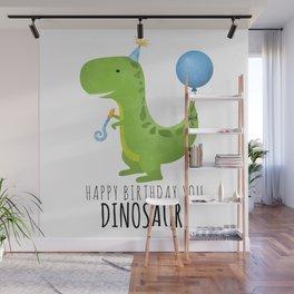 Happy Birthday You Dinosaur! Wall Mural