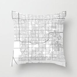 Minimal City Maps - Map Of Gilbert, Arizona, United States Throw Pillow