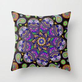 Owl Mandala Throw Pillow