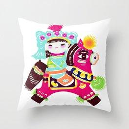 Princess on a Pony Throw Pillow