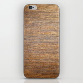 Rustic brown gold wood texture iPhone Skin