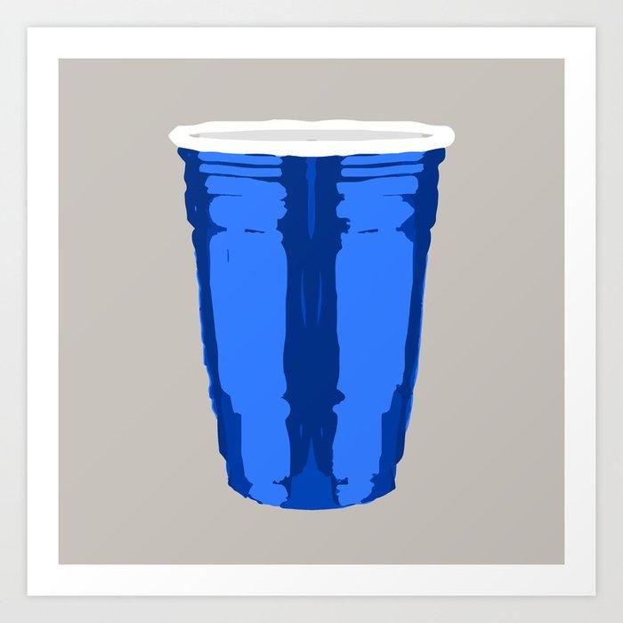 CLARITY CUP BLUE (BIG) Art Print