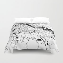 Amsterdam Minimal Map Duvet Cover