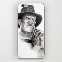 freddy krueger iPhone & iPod Skins featuring Freddy krueger nightmare on elm street by calibos