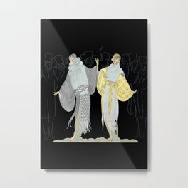 """Opening Night Fashion"" Art Deco Design Metal Print"