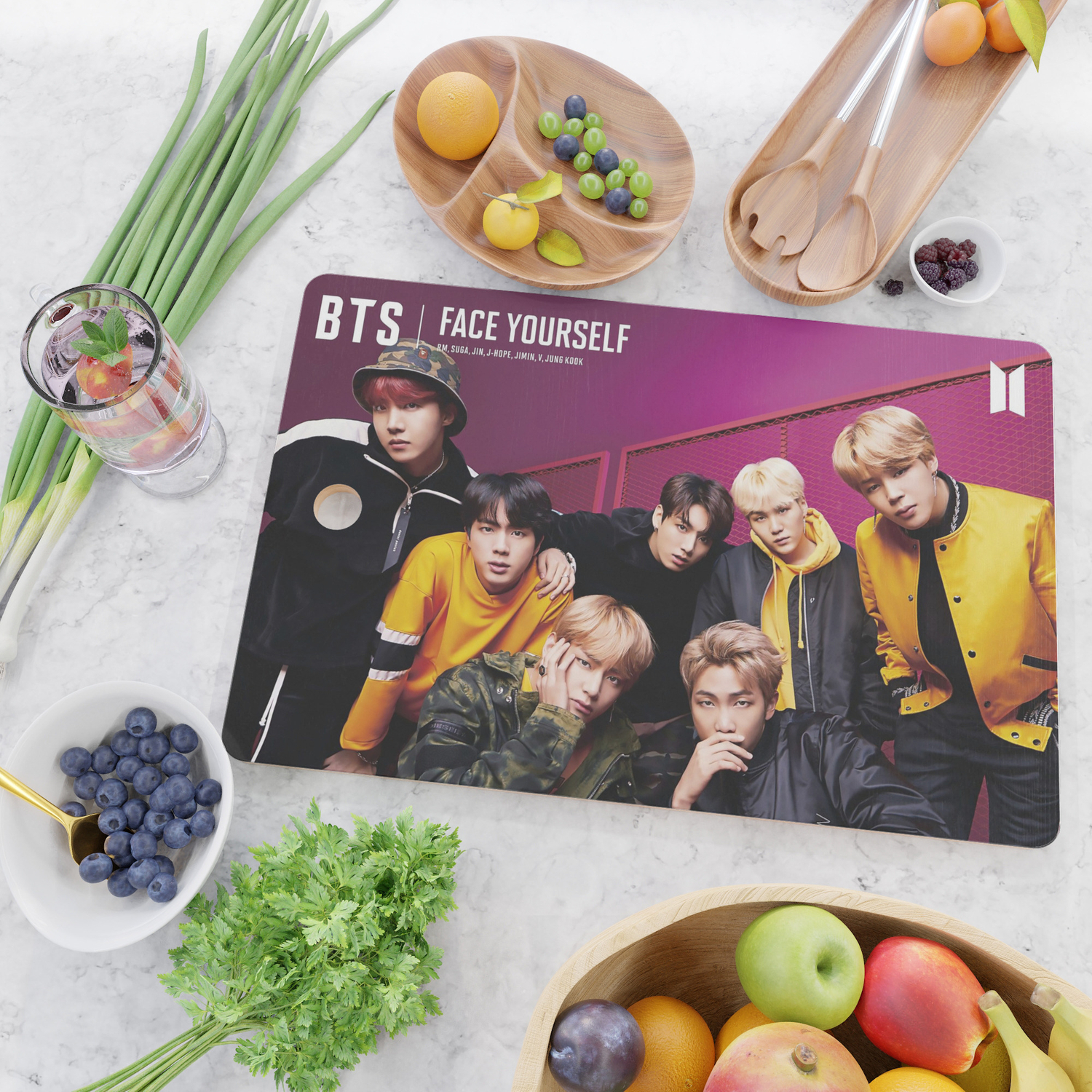 bts face yourself 2 Cutting Board by ynoirb