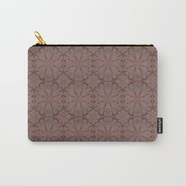 Peach, gray and chocolate lace Carry-All Pouch