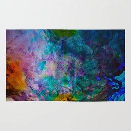 multicolored waves Rug