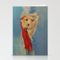 superheros Stationery Cards featuring Hamster Superhero by Michael Creese