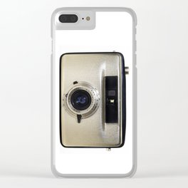 Gold Penti Film Camera Half Frame Clear iPhone Case