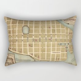 Vintage Map of Beaufort SC (1860s) Rectangular Pillow