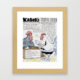 Kabobs Tropical Chicken Framed Art Print