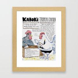 Kabobs Tropical Chicken Framed Art Print