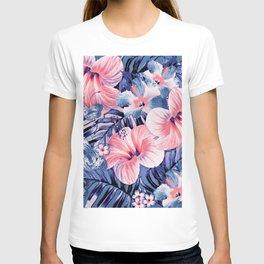 Coral Lapis Aloha T-shirt