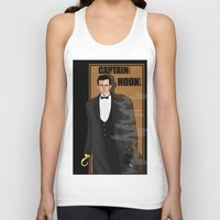 hook Tank Tops featuring captain hook by snsemstlcp