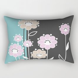 Floral applique . Retro . Rectangular Pillow