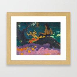 Fatata te Miti, Paul Gauguin, 1892 Framed Art Print