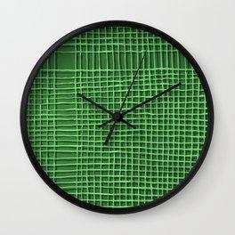 Left - Green Wall Clock