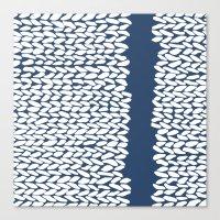Missing Knit Navy Canvas Print