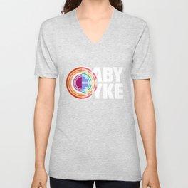 Baby Dyke Lesbian Pride LGBTQ Gay Girl Unisex V-Neck