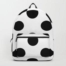 Large Polka Dots - Black on White Backpack