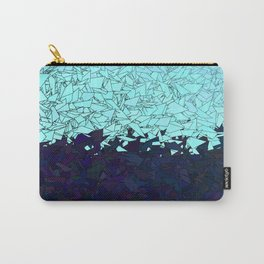 Montreal Ice Blue and Purple Ombre Urban Camouflage Carry-All Pouch