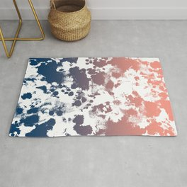 Ombre fade tie dye pastel trendy color way throwback retro palette 80s 90s style Rug