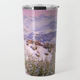 Sierra  nevada mountains at pink sunset Travel Mug