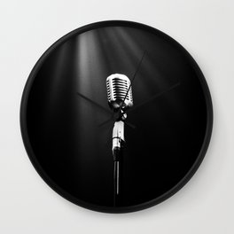 Classic Microphone Wall Clock
