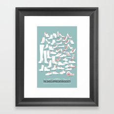 Shoes Appreciation Society Framed Art Print