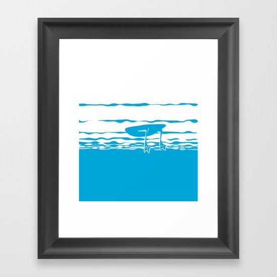 Partly Ducky Framed Art Print