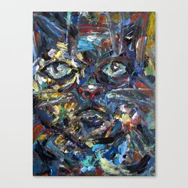 Abstract Kitty Cat Canvas Print