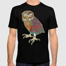 little brother owl Mens Fitted Tee MEDIUM Black