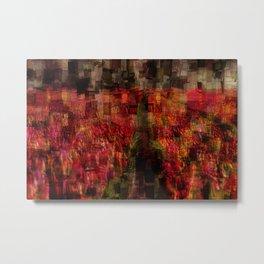 Field of Tulips Mosaic Metal Print