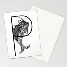 Letter P Stationery Cards