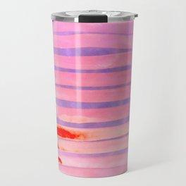 Pink Lava Lines Travel Mug