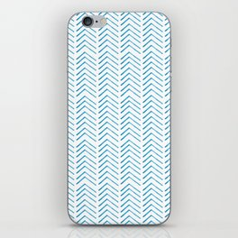 Hand painted blue watercolor aztec chevron geometrical iPhone Skin