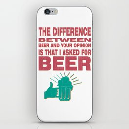 beetween - I love beer iPhone Skin