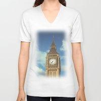 ben giles V-neck T-shirts featuring Big Ben by MarioGuti