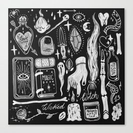 BLACK MAGIC Canvas Print