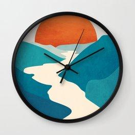 River landscap Wall Clock