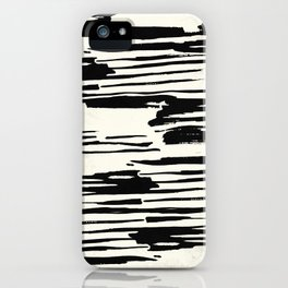 Rough Brush on Ivory iPhone Case