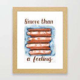 s'more than a feeling Framed Art Print