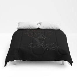 Mermaid Ariel skeleton black Comforters