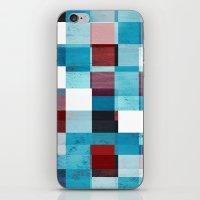 patriotic iPhone & iPod Skins featuring Patriotic Grid by plaidGecko