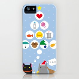 Santa Cat iPhone Case
