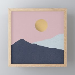 Minimal Mountains Framed Mini Art Print